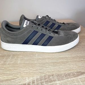 Adidas Men's Gray, Navy Suede Shoes